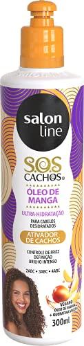 Ativador de Cachos - S.O.S Cachos - Umidificador, 300 ml, Salon Line, Salon Line, Branco, 300 ml