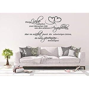 *NEU* Wandaufkleber Wandtattoo Wandsticker ***Die Liebe zwischen zwei Menschen lebt von den schönen Augenblicken. Aber…
