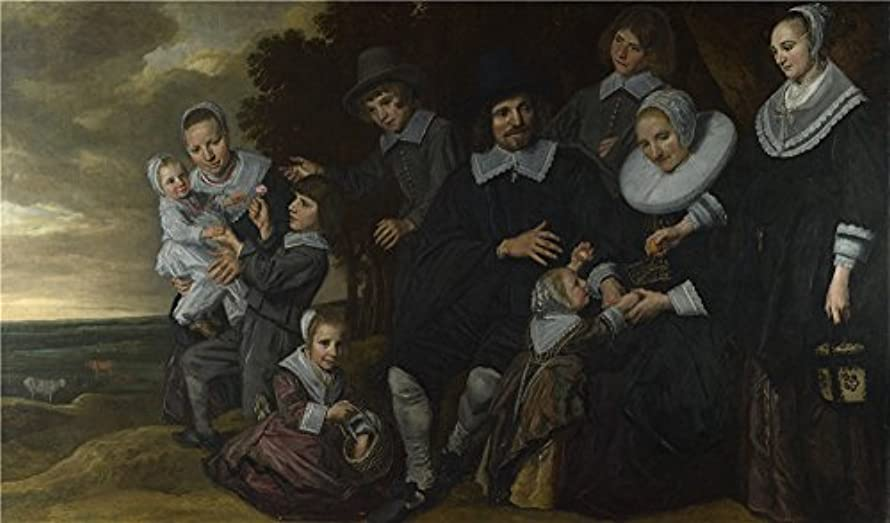 'Frans Hals A Family Group In A Landscape ' Oil Painting, 18 X 31 Inch / 46 X 78 Cm ,printed On Perfect Effect Canvas ,this Cheap But High Quality Art Decorative Art Decorative Canvas Prints Is Perfectly Suitalbe For Kids Room Gallery Art And Home Gallery Art And Gifts