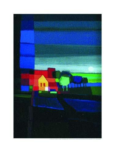 Art-Galerie Kunstdruck/Poster Ton Schulten - Night Falls I - 60 x 80cm - Premiumqualität - Made IN Germany SHOPde