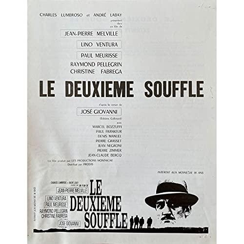 LE DEUXIEME SOUFFLE Synopsis 4p - 21x30 cm. - 1966 - Lino Ventura, Jean-Pierre Melville