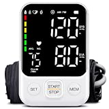 Blood Pressure Monitor Accurate Upper Arm Automatic Digital BP Machine for Home Use with Adjustable Cuff, Large Backlit Display, 240 Sets Memory