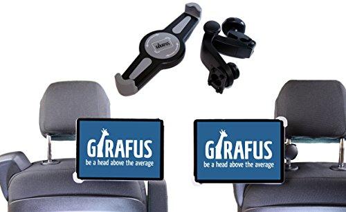 Girafus PORTA TABLET AUTO Supporto tablet 7 8 9 10 10,5 POLLICI per POGGIATESA sedile posteriore UNIVERSALE Rotazione a 360°