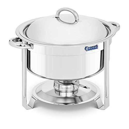 Royal Catering Chafing Dish Calentador De Buffet RCCD-9-120 (Funcionamiento con Combustible, Contenedor...