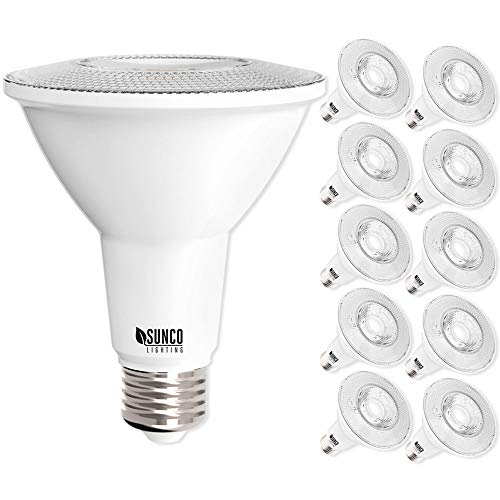 Sunco Lighting 10 Pack PAR30 LED Bulb, 11W=75W, Dimmable, 2700K Soft White, 850 LM, E26 Base, Indoor/Outdoor Spotlight, Waterproof - UL & Energy Star