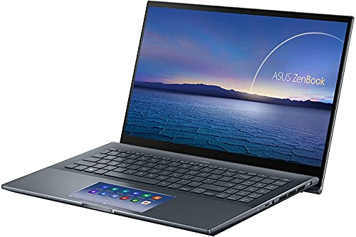 CUK ASUS ZenBook 15 Business Laptop with Screenpad 2.0 (Intel i7-10750H, NVIDIA GeForce GTX 1650 TI, 16GB RAM, 1TB NVMe SSD, 15.6