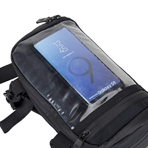 BTR Wasserabweisende Fahrrad Lenkertasche mit Navi/Handy Tasche, Fahrradtasche Lenker. Wasserdicht - 3