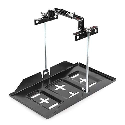 Vassoio porta batteria, Portabatteria Supporto per vassoio di fissaggio Kit staffa di fissaggio Accessorio per auto(23cm)