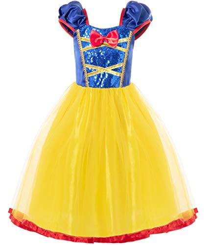 FUNNA Princess Costume for Girls Sequins Dress Elastic Waist, 3T
