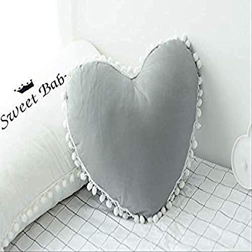 siyat Kreative Liebe Kissen Kissen Kinderkissen Plüsch Spielzeug Möbel Dekoration Liebe 40 x 40 Jikasifa (Color : Grey, Size : Five-pointedstar45x45cm)