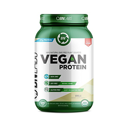 Organic Vegan Protein Powder - 27g Protein, RAW, Certified Organic, NON-GMO, Fully Natural Plant based – Low Carb, NO Sugar - No Dairy, Gluten or Soy – High Protein - Made in USA (30 Serving, Vanilla)