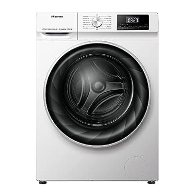 Hisense WDQY1014EVJM 60cm Freestanding 10KG Front Load Washer Dryer - 1400 RPM - Pure Steam - PureJet - Pause & Add - Inverter Motor - White