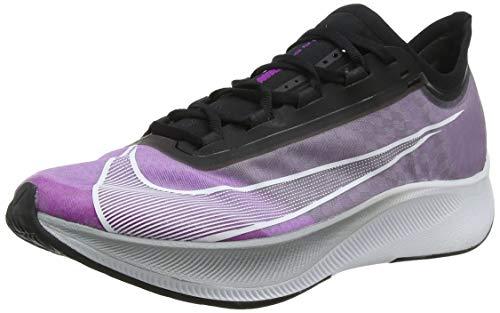 Nike Men's Zoom Fly 3 Running Shoes, Multicolour (Hyper Violet/White/Black/Wolf Grey 500), 10 UK