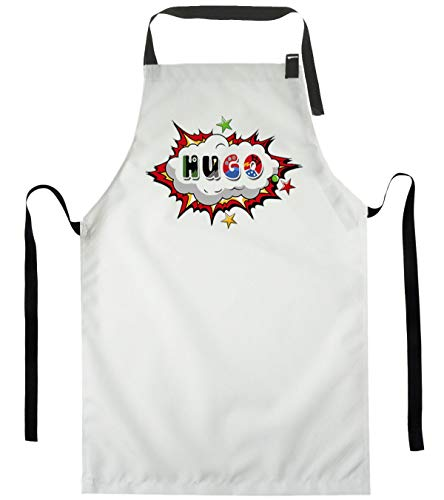 Personalizar Delantal de Cocina para niños con diseño Texto Cocinar Delantales de Cocinero Chefs Cocina Super heroe con Nombre [074]