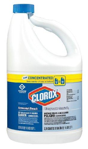 Concentrated Germicidal Bleach, Regular, 121oz Bottle, 3/Carton