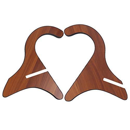 Houten ukelelestandaard, klassieke afneembare gitaarhouder, muziekinstrumentaccessoires, met EVA-wattenschijfje, voor muziekinstrumenten zoals ukelele, viool en gitaar