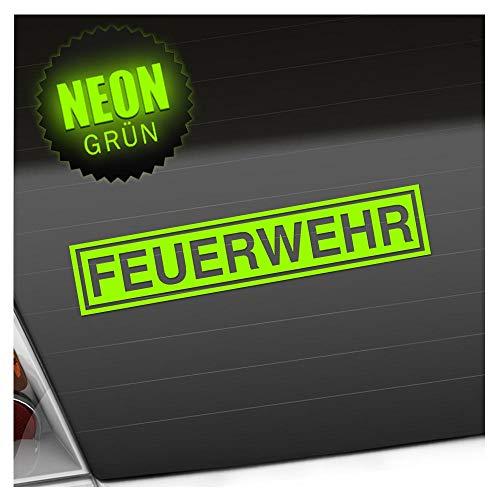 Kiwistar Feuerwehr 20 x 4 cm IN 15 Farben - Neon + Chrom! Sticker Aufkleber