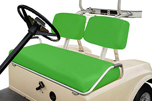 Club Car Pre-2000 DS Golf Cart Front Replacement Seat Cover Set Made with Marine Grade Vinyl - Staple On Installation (Lime Green)