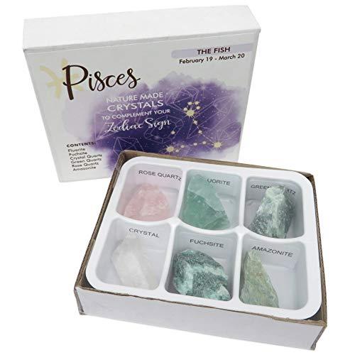 Rock Paradise Horoscope Stone Box Set - Pisces Zodiac Sign – Healing Crystals Birthstone Charms – Astrology Crystal Healing Horoscope Gift