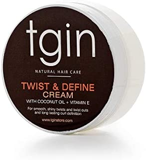 tgin Twist and Define Cream For Natural Hair - Dry Hair - Curly Hair, 2oz Travel Size