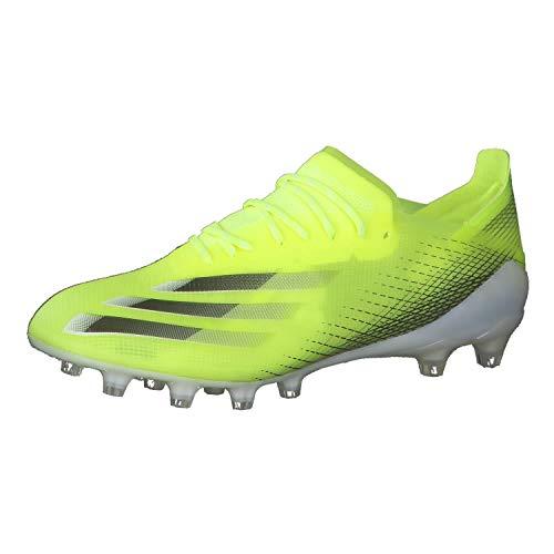 adidas X GHOSTED.1 AG, Zapatillas de fútbol Hombre, Amasol/NEGBÁS/AZUREA, 46 EU