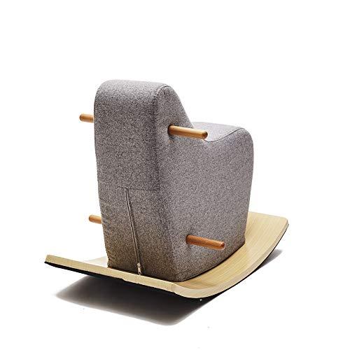 YYRCP Kinderschommelpaard, Rocking Horse Ride Baby Kind Houten Trojan Shake Rocking Pony Ride Game Kinderkamer schommelstoel Ornament INS Nordic Style - 65×50×27Cm