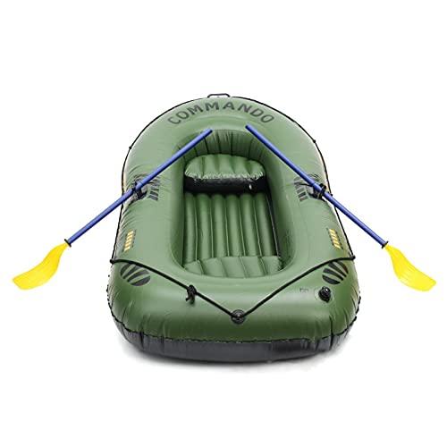 SZTUCCE 2021 Nuevo 3 La Persona Espesa el cojinete de Barco Inflable 200kg 249x127cm Duradero CLORURO DE POLIVINILO Barco de Pesca de Goma con Bomba de paletas. (Color : A)
