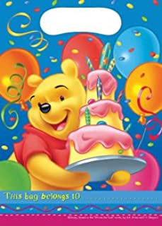 Winnie the Pooh Birthday lootbag pack of 6 (Multi 8126)