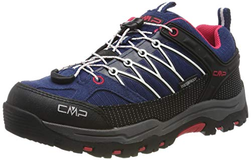 CMP Kids Rigel Low Shoe Wp Trekking- & Wanderhalbschuhe, Blau (Marine-Corallo 36mc), 36 EU