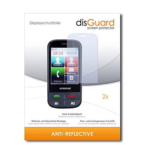 disGuard® Bildschirmschutzfolie [Anti-Reflex] kompatibel mit Audioline MT 1000 [2 Stück] Entspiegelnd, Matt, Antireflektierend, Extrem Kratzfest, Anti-Fingerabdruck - Panzerglas Folie, Schutzfolie