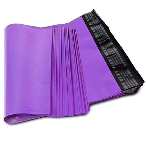 SJPACK 10x13-inch 100 Bags 2.5 Mil Poly Mailers Envelopes Bags With Self-sealing Strip (Purple--100 Bags)