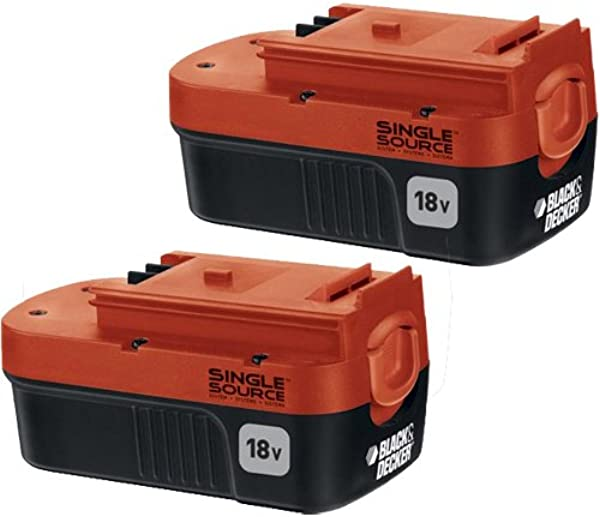 BLACK DECKER 18 Volt Battery NiCd 2 Pack HPB18 OPE2