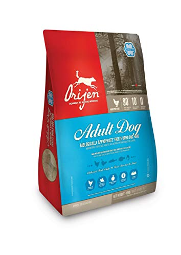 Orijen ORIGINAL HUNDEFUTTER, getreidefrei, Premium Qualität, gefriergetrocknetes Hundefutter, 6 oz, blau