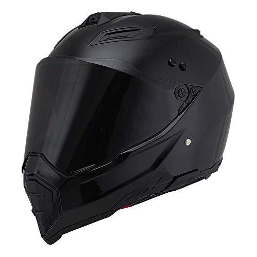 Woljay Off Road Helm Motocross-Helm Motorradhelm Motocrosshelme Fahrrad ATV (M, Schwarz)