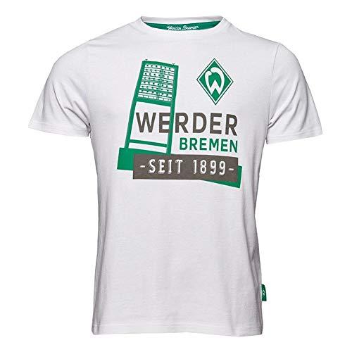 Werder Bremen Flutlichtmast T-Shirt (XL, Weiß)