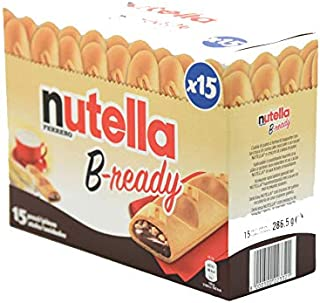 "Ferrero: ""Nutella B-ready "" a crisp wafer of bread in the form of mini baguette stuffed with a creamy Nutella 15 pieces 10.13 oz (286g) [ Italian Import ]"