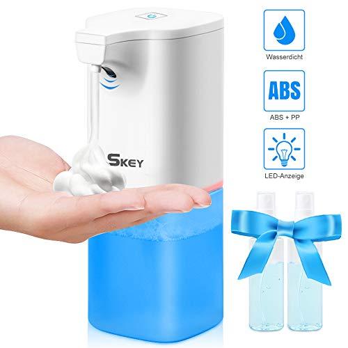 Seifenspender Automatisch Elektrischer Schäumende, Wasserdicht automatischer Seifenspender Set mit Sensor Infrarot, Berührungslos Schaumseifenspender für Bad, Küche, WC, Hotel