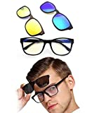 BSITFOW Anti-Glare Polarized Lens UV Protected Day and Night Vision Sunglasses 3 In
