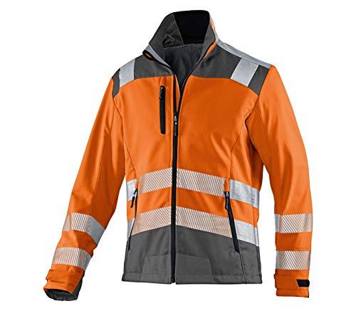 KÜBLER REFLECTIQ Softshell Jacke PSA 2, Farbe: Warngelb/Anthrazit, Größe: 4XL