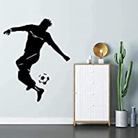 ウォールステッカーデカール 57 × 71 センチメートルサッカーファッション子供 S ルームデカールリムーバブルオフィス diy pvc 寝室家族防水自己粘着リビングルームの窓 壁画家の装飾