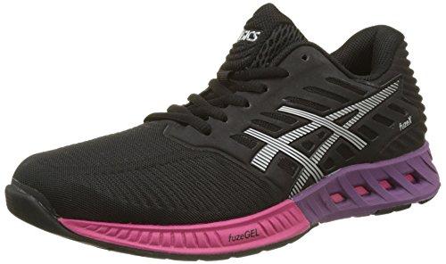 ASICS Women's Fuzex Training Shoes, Black (Black/Silver/Pink Peacock), 4 UK
