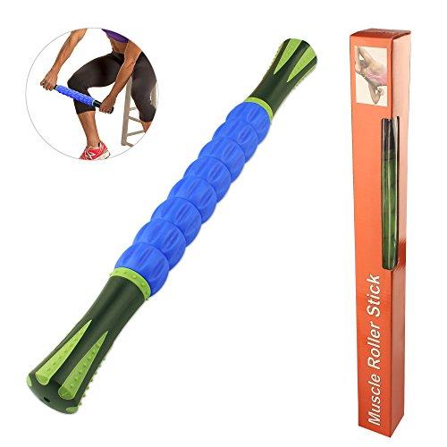 Muscle Roller Stick, Muskel Massage Roller Werkzeuge f¨¹r Sportler L?ufer helfen, Bein und K?rper Zur¨¹ck Recovery Massage(Blau)