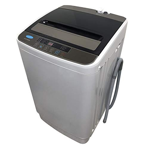 Full-Automatic Portable Washing Machine Compact Top Load Laundry Washer Spin with Drain Pump, 4 Wash Programs 4 Water Level Selections with LED Display 1.58cu.ft 13 Lbs Capacity, Grey