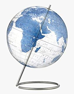 Crystal Marquise Globe - Clear Blue