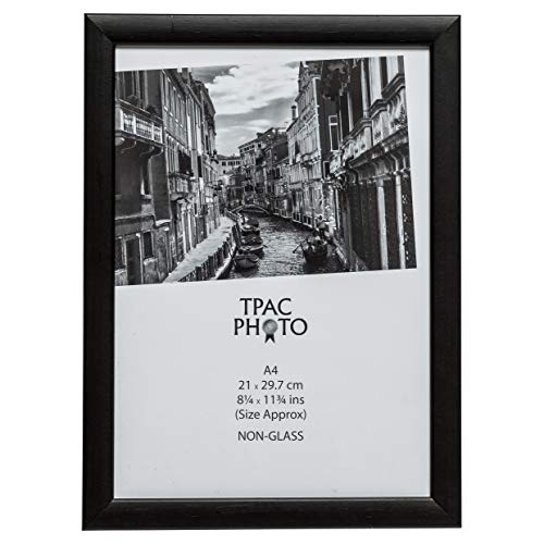 The Photo Album Company PAWFA4B-BLK - Marco de fotos, madera, Negro, 21 x 29,7 cm,
