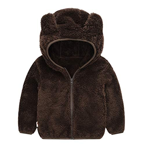 PlayMate Boys Outfits&Set Baby Girl Boy Clothes Hoodies Toddlers Cute Ears Fleece Warm Zip-up Coat Jacket Outwear