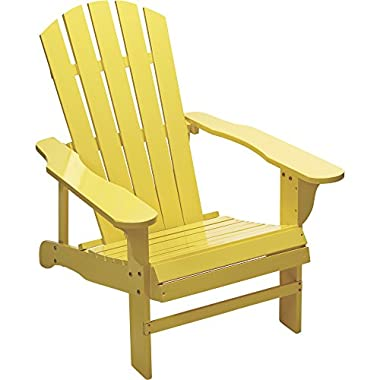Kotulas Classic Yellow Painted Wood Adirondack Chair