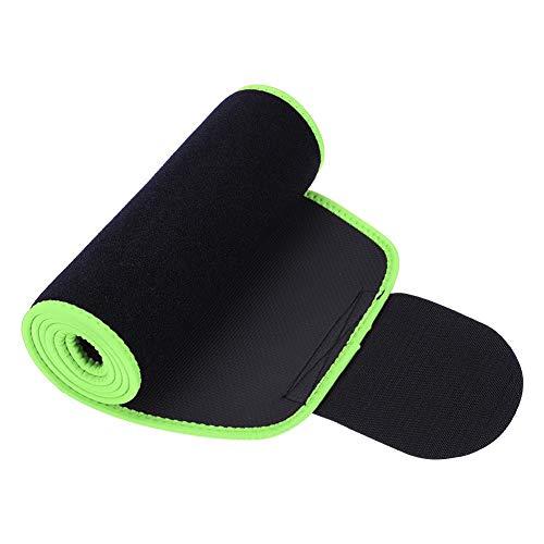 Rückenbandage Trainingsgürtel Taille Trainer Trimmer Gürtel, Atmungsaktiorkout Schweiß Enhancer Verstellbare Wickel Sport Body Shaper Bauch Kontrolle Gürtel für Gewichtsverlust(L- Grün)