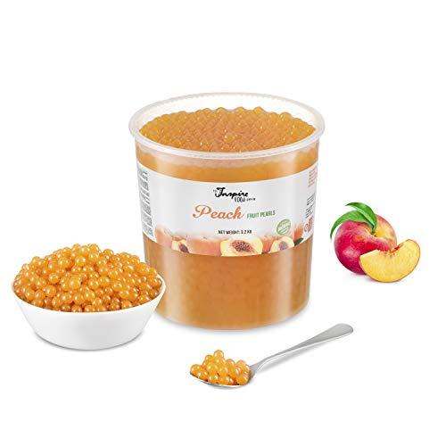 Original Popping Boba Fruchtperlen für Bubble Tea - 3.2 kg - Pfirsich - Ohne künstliche Farbstoffe, echte Fruchtsäfte - Weniger Zucker - 100% Vegan und Glutenfrei