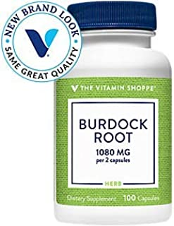Burdock Root (Arctium Lappa) 1080mg – A Traditional Herb That Supports Detoxification (100 Capsules) by The Vitamin Shoppe